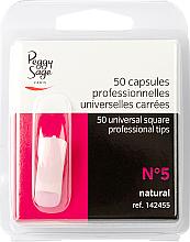 Parfums et Produits cosmétiques Capsules carrées pour ongles, №5, 50 pcs - Peggy Sage Tips