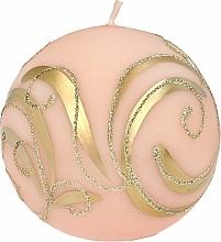 Parfums et Produits cosmétiques Bougie décorative, boule rose avec une application, 10 cm - Artman Christmas Ornament