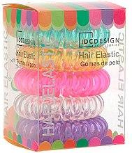 Parfums et Produits cosmétiques Lot de 5 élastiques à cheveux en plastique - IDC Institute Design Hair Bands Pack