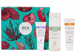 Parfums et Produits cosmétiques Coffret cadeau - REN Face Favourites Gift Set (f/mask/15ml + f/cre/50ml + serum/10ml)