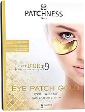 Parfums et Produits cosmétiques Patchs anti-âge au collagène et extrait d'or pour contour des yeux, 5 paires - Patchness Eye Patch Gold