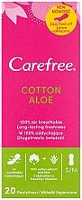 Parfums et Produits cosmétiques Protège-slips hygiéniques à l'extrait d'aloe vera, 20 pcs - Carefree Cotton Aloe
