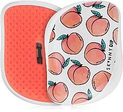 Parfums et Produits cosmétiques Brosse démêlante compacte, motif pêches - Tangle Teezer Compact Styler Cheeky Peach