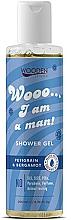 Parfums et Produits cosmétiques Gel douche aux huiles bio de petitgrain bigarade et bergamote - Wooden Spoon I Am A Man Shower Gel