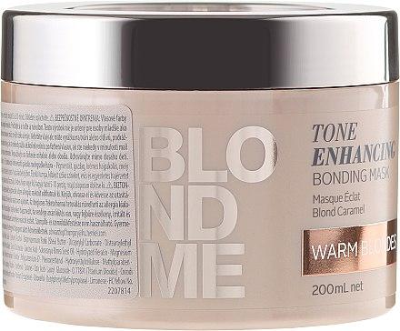 Masque caramel renforceur des nuances blonde chaud - Schwarzkopf Professional Blondme Tone Enhancing Bonding Mask Warm Blondes — Photo N1