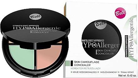 Palette de correcteurs pour visage - Bell Hypoallergenic Skin Camouflage Concealer