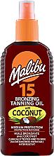 Parfums et Produits cosmétiques Huile bronzante à l'huile de coco - Malibu Bronzing Tanning Oil With Coconut SPF 15
