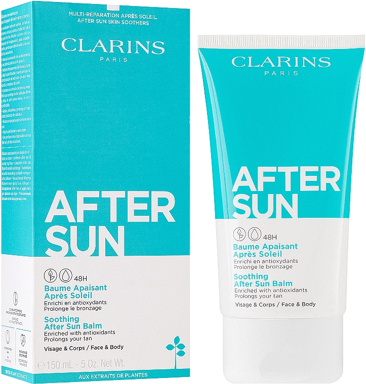 Baume après-soleil à l'aloès pour visage et corps - Clarins Soothing After Sun Balm 48H — Photo N2