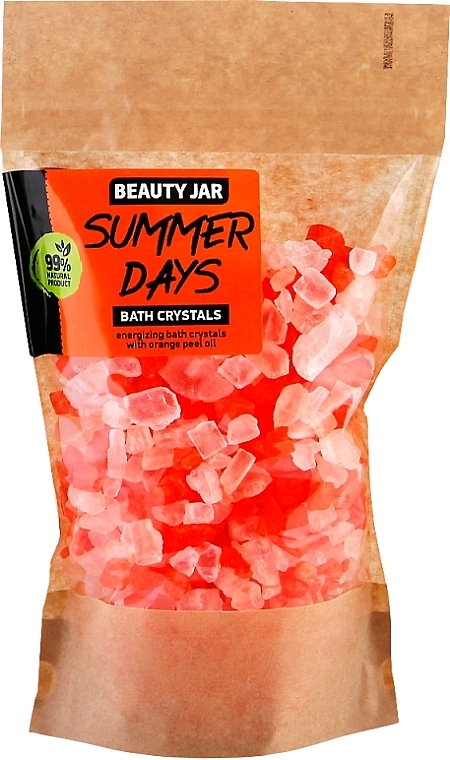 Cristaux de bain à l'huile d'écorce d'orange - Beauty Jar Summer Days Energizing Bath Crystals with Orange Peel Oil