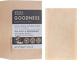 Parfums et Produits cosmétiques Savon exfoliant bio au thé vert pour corps - Baylis & Harding Goodness Sea Kelp & Peppermint Exfoliating Natutal Soap