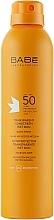 Parfums et Produits cosmétiques Spray solaire waterproof à la vitamine E pour corps SPF 50+ - Babe Laboratorios Fotoprotector Transparente Wet Skin