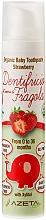 Parfums et Produits cosmétiques Dentifrice bio pour enfants, Fraise - Azeta Bio Organic Baby Toothpaste Strawberry