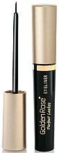 Parfums et Produits cosmétiques Eyeliner liquide - Golden Rose Perfect Lashes Black EyeLiner