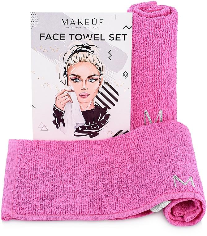 Lot de serviettes pour visage, MakeTravel, rose - Makeup Face Towel Set