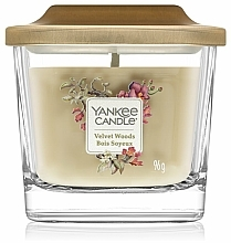 Parfums et Produits cosmétiques Bougie parfumée, Bois soyeux - Yankee Candle Elevation Velvet Woods