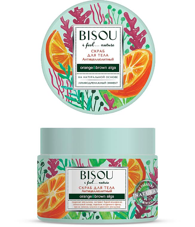 Gommage à l'extrait d'orange douce pour corps - Bisou I feel... Nature Anti-Cellulite Body Scrub Orange & Brown Algae