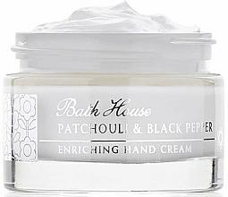 Parfums et Produits cosmétiques Bath House Patchouli & Black Pepper - Crème pour mains, Patchouli et Poivre noir