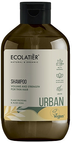 Shampooing aux protéines végétales et aloe vera - Ecolatier Urban Volume & Strength Shampoo — Photo N1