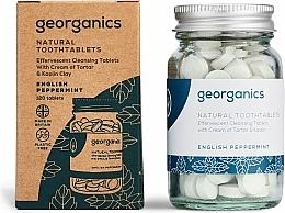 Parfums et Produits cosmétiques Comprimés de nettoyage des dents, Menthe anglaise - Georganics Natural Toothtablets English Peppermint