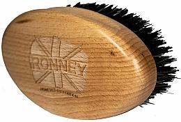 Parfums et Produits cosmétiques Brosse à barbe en bois, à poils naturels, claire - Ronney Professional Barber Big Brush