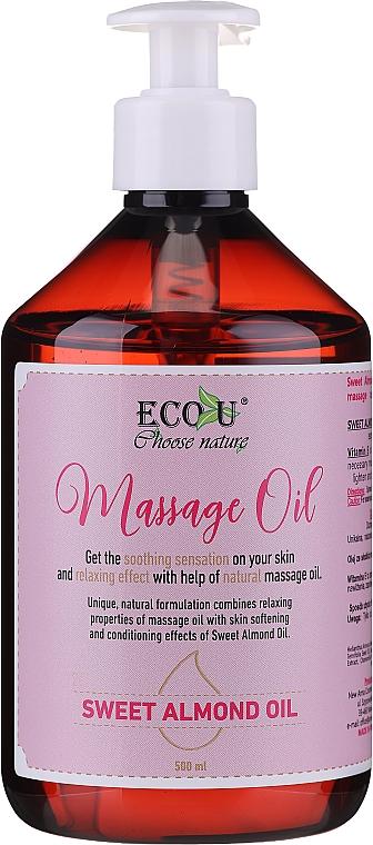 Huile de massage à l'huile d'amande douce - Eco U Massage Oil Sweet Almond Oil