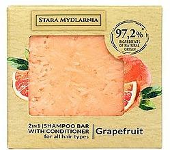 Parfums et Produits cosmétiques Shampooing et après-shampooing solide, Pamplemousse - Stara Mydlarnia Grapefruit 2in1 Shampoo Bar