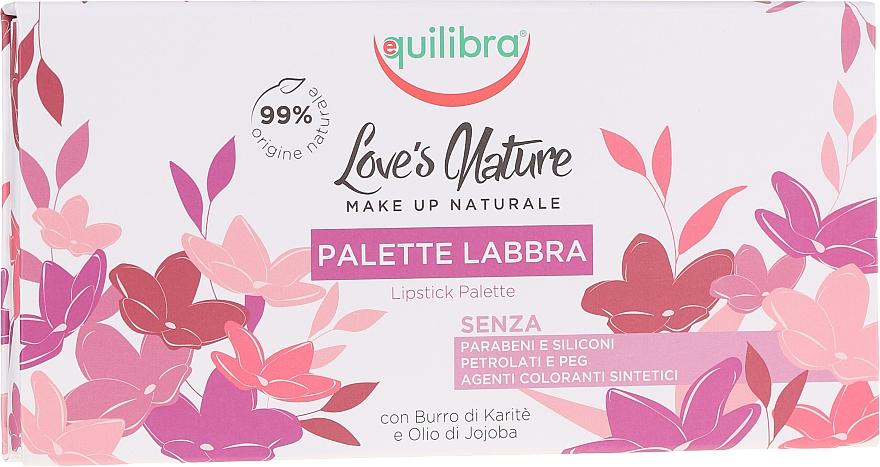 Palette rouges à lèvres avec pinceau - Equilibra Love's Nature Lip Palette Kit — Photo N2