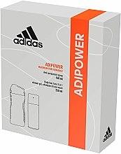 Parfums et Produits cosmétiques Adidas Adipower Men - Set (déodorant/150ml + gel douche/250ml)