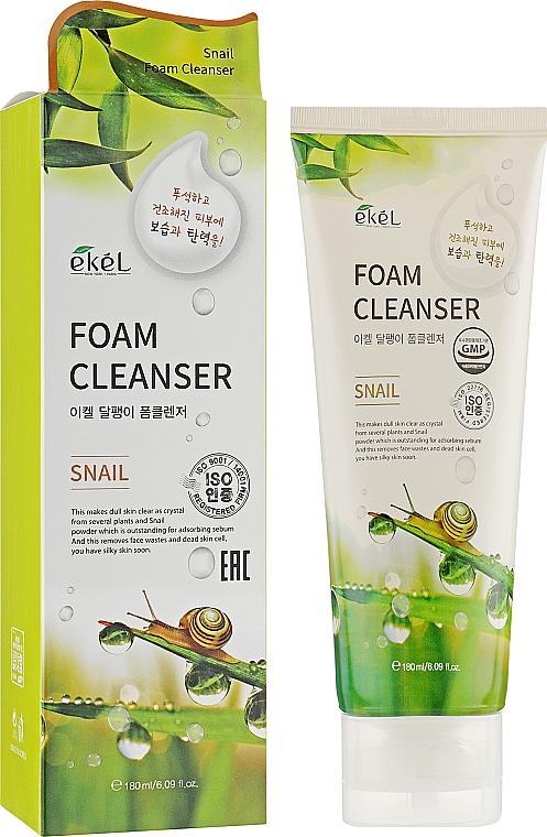Mousse nettoyante à l'extrait de bave d'escargot pour visage - Ekel Snail Foam Cleanser — Photo N2