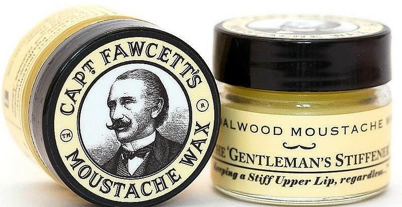 Captain Fawcett Sandalwood - Set (cire à moustache/15ml + peigne à moustache/1pcs) — Photo N3