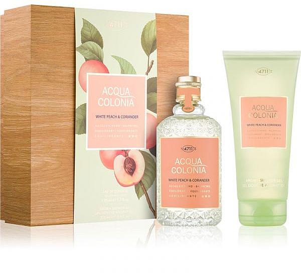 Maurer & Wirtz 4711 Aqua Colognia White Peach & Coriander - Coffret cadeau (col 170 ml + sh/gel 200 ml) — Photo N1
