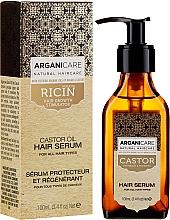 Parfums et Produits cosmétiques Sérum à l'huile d'argan bio pour cheveux - Arganicare Castor Oil Hair Serum