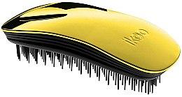 Parfums et Produits cosmétiques Brosse à cheveux compacte, jaune métallique - Ikoo Home Black Soleil Metallic