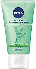 Parfums et Produits cosmétiques Gel nettoyant purifiant aux algues de l'océan et hydra IQ pour visage - Nivea Aqua Effect