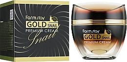 Parfums et Produits cosmétiques Crème au filtrat de bave d'escargot pour visage - FarmStay Gold Snail Premium Cream