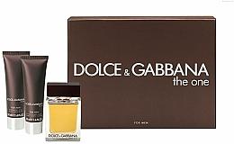 Dolce & Gabbana The One for Men - Coffret (eau de toilette/100ml + baume après-rasage/50ml + gel douche/50ml) — Photo N1