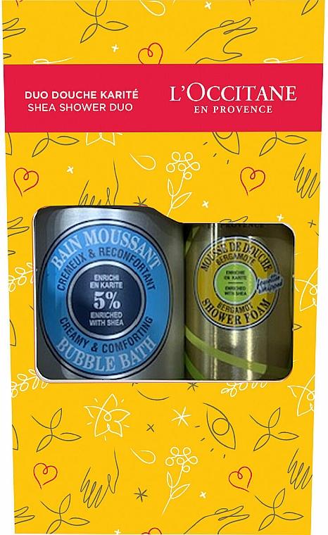 L'Occitane Shea Shower Duo - Set (mousse de douche/200ml + bain moussant/500ml) — Photo N1