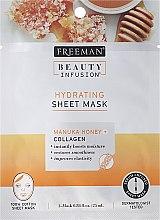 Parfums et Produits cosmétiques Masque tissu au miel de Manuka et collagène pour visage - Freeman Beauty Infusion Hydrating Cream Mask Manuka Honey + Collagen