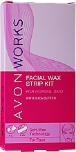Parfums et Produits cosmétiques Bandes de cire au beurre de karité visage - Avon Works For Face & Brow