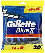 Parfums et Produits cosmétiques Rasoirs jetables, 14+6 pcs - Gillette Blue II