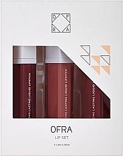 Parfums et Produits cosmétiques Set (rouge à lèvres liquides mats/3x8g) - Ofra Manny MUA Lip Set
