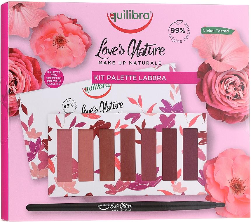 Palette rouges à lèvres avec pinceau - Equilibra Love's Nature Lip Palette Kit
