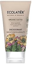 Parfums et Produits cosmétiques Déodorant-crème à l'extrait de cactus bio - Ecolatier Organic Cactus Deodorant