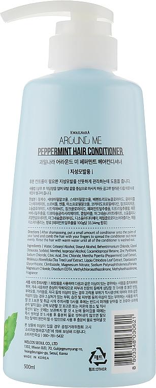 Après-shampoing à l'extrait de menthe - Welcos Around Me Peppermint Hair Conditioner — Photo N2