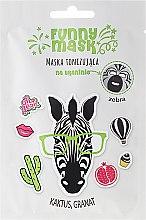 Parfums et Produits cosmétiques Masque tissu tonifiant au cactus et grenade pour visage, Zebra - Marion Funny Mask