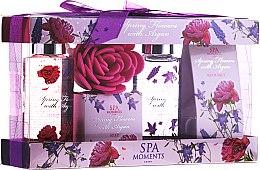 Parfums et Produits cosmétiques Spa Moments Wild Rose & Lavander - Set (gel douche/2x100ml + sels de bain/2x50g)