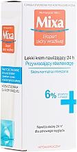Parfums et Produits cosmétiques Crème à la glycérine pour visage - Mixa Sensitive Skin Expert 24 HR Moisturising Cream