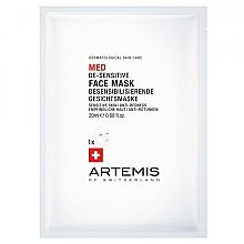 Parfums et Produits cosmétiques Masque tissu à l'extrait de camomille pour visage - Artemis of Switzerland Med De-Sensitise Face Mask