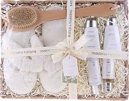 Parfums et Produits cosmétiques Coffret cadeau - Baylis & Harding Urban Barn Lime, Basil & Mint Set (h/cr/50ml + sh/cr/100ml + b/cr/50ml + sh/gel/50ml + back/brush/1 + slippers)