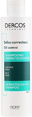 Anti-sebum complex - Vichy Dercos Oil Control Treatment Shampoo — Photo N1